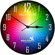 Hoopoe Decor Colour Wheel Trendy Designer Wall Clock