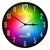 Hoopoe Decor Colour Wheel Trendy Designer Wall Clock