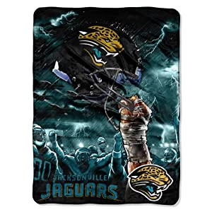 NFL Jacksonville Jaguars 60-Inch-by-80-Inch Plush Rachel Blanket, Sky Helmet Design by Northwest