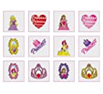 """Princess tattoos, pack of 24"""