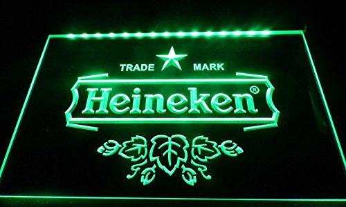 Niceshopping Heineken Neon Light Sign Decorated for Shop Store Beer Bar Restaurant Display Signboards LS031 (Green)