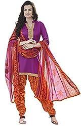 Fabgruh Presents Cotton Dress Material(Purple)