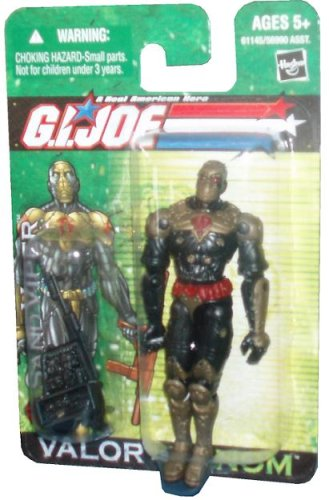 "2004 G.I. Joe Valor Vs. Venom Cobra Desert Infiltrators SAND VIPER 4"" Action Figure with Submachine Gun, Assault Rifle with Bayonet, Helmet and Backpack - 1"