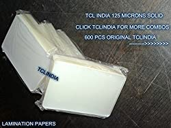 Lamination Id card Using Pouches 600 pieces 125 microns solid wholesale deal