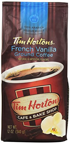 Tim Horton's 100% Arabica Medium Roast, French Vanilla, Ground Coffee, 12 Ounce (Coffee Bean French Vanilla compare prices)