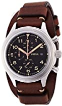 Fossil Compass Chronograph Leather Watch - Brown Jr1432