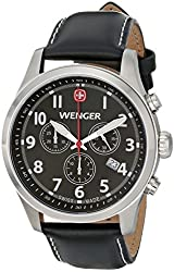 Wenger Men's 0543.101 Analog Display Swiss Quartz Black Watch