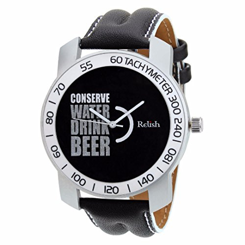 Relish-565 Stylish Silver & White Case Analog Watches For Mens & Boys