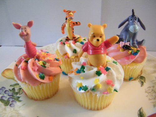 Disney Winnie The Pooh And Friends Cake Topper Cupcake Decorations front-78498