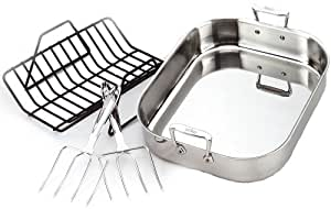 All-Clad 501631 Stainless Steel Large Roti Combo