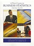 img - for A First Course in Business Statistics: Class Notes: Stat 1000 book / textbook / text book