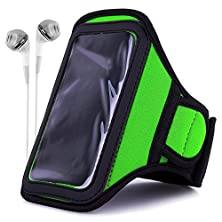 buy Athlete'S Choice Neoprene Workout Armband For Motorola Droid Turbo / Apple Iphone 6 Plus / Samsung Galaxy S6 Edge+ / Lg V10 / Lg G4 / Lg G Stylo / Htc One M9 With White Headphones