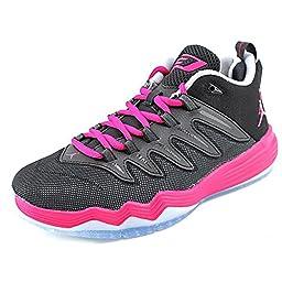 Nike Jordan Kids Jordan CP3.IX GG Black/Sports fuchsia/Wolf Grey Basketball Shoe 4.5 Kids US