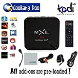 GooBang Doo MX3 MXIII KODI Android 4.4 Quad Core 2G/8G XBMC updated to KODI 4k TV Box - 3D-HD Blu-ray Streaming Media Player Bluetooth DLNA Airplay - All in one Entertainment System