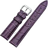 【TON CHARME】トンチャーメー 腕時計用ベルト 本革 おしゃれ 耐水性 スポーツ 柔らか ピンク・ブルー・ホワイト・レッド・パープル・ライトブルー・ブラック・ブラウン