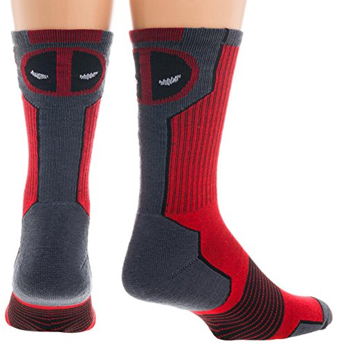 Marvel Deadpool Mens' Active Crew Socks (Sock Size: 10-13 - Shoe Size: 8-12) (Marvel Shoes Men compare prices)