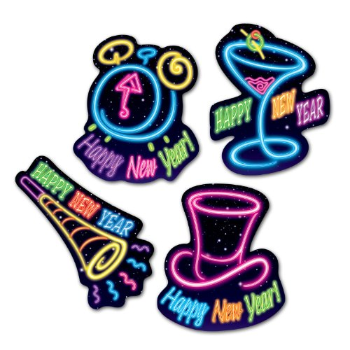 Happy New Year Cutouts   (4/Pkg)