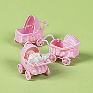 Baby shower party supplies baby shower decorations party for Baby carriage decoration