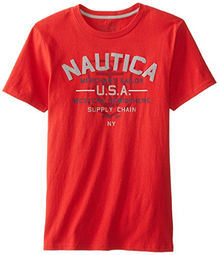 Nautica Big Boys' Classic Brand Tee, Samba, X-Large back-1028357