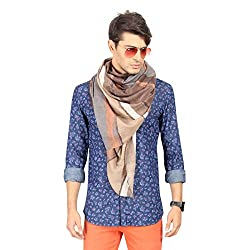 FabSeasons Cotton Unisex Brown Printed Scarf, Scarves, Stoles and Shawl