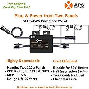 APS YC500A- microinverter one inverter for two solar panels by APS