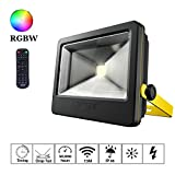 LOFTEK® 50W LED Flood Light, RGB Timing Security Floodlight, Outdoor Waterproof IP66 Spotlight with Multi-functional Remote, for Garden,Park,Stage and Square