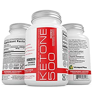 #1 Pure Raspberry Ketones, 500MG Per Serving, 100% Vegetarian Capsule