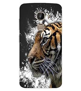 ColourCraft Tiger Look Design Back Case Cover for LeEco Le 2