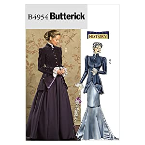 Titanic Edwardian Sewing Patterns- Dresses, Blouses, Corsets, Costumes Early 20Th Century Costume Size FF (16-18-20-22) $5.99 AT vintagedancer.com