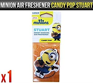 Despicable Me Minions Stuart Candy Pop Fragrance Car Air Freshener Licensed x 1