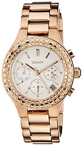 DKNY NY2261I - Orologio da polso da donna, cinturino in acciaio inox colore oro rosa