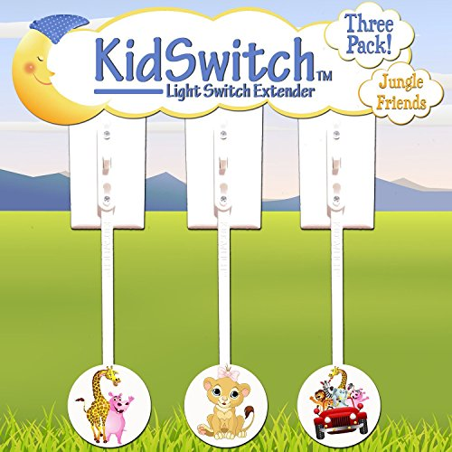 Kidswitch Light Switch Extender My Jungle Friends - 3 pack