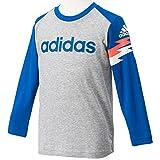 (アディダス)adidas KIDS TCOS CLIMA LITE COTTON リニアビッグロゴ ショックウェーブ ロングスリーブ Tシャツ