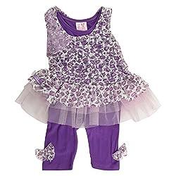 Little Kangaroos Baby-Girls Purple Dress (8903208878247_Purple_3-6 Months)