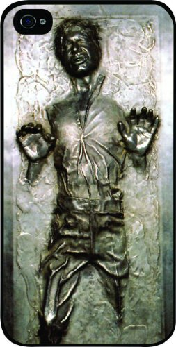 Han Solo Carbonite (FLAT BACK) Black Hard Snap on Case Cover for Apple Iphone 5, Iphone 5 Universal: Verizon - Sprint - At&t - Great Affordable Gift!