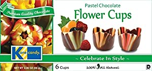 Kane Candy, Pastel Chocolate Flower Cups, 6 Cups Net Wt. 2.40-Ounce