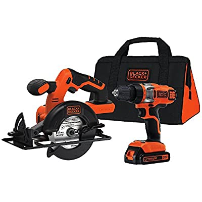 BLACK+DECKER BDCD220CS 20-Volt MAX Lithium-Ion Drill/Driver and Circular Saw Kit