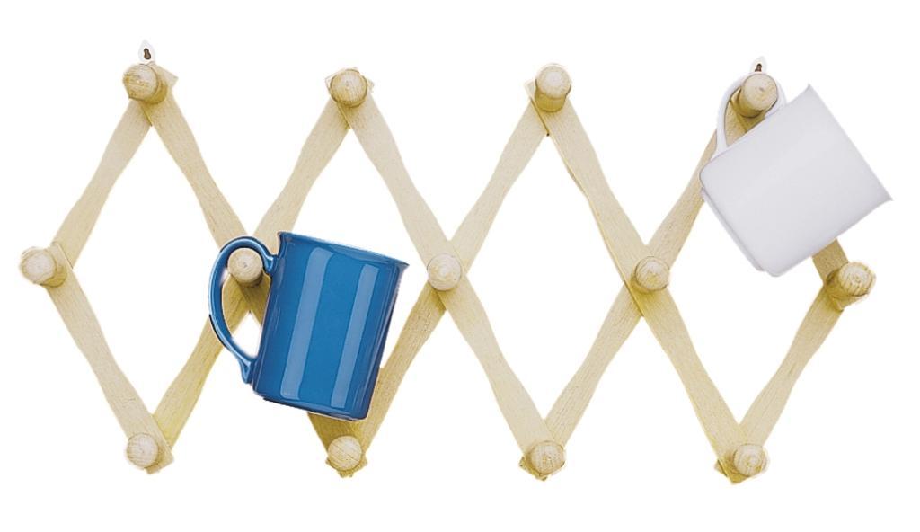 Amazon Com Fox Run Expanding Beechwood Coffee Mug Wall