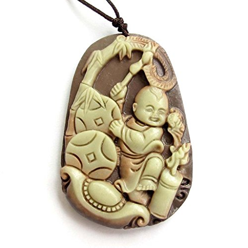 ovalbuy-two-layer-natural-stone-happy-boy-fortune-bamboo-yuanbao-pendant-amulet-54mm36mm