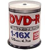 ZERO DVD-R 16倍速 100枚 ワイドプリンタブル ZERT47-16X100PW
