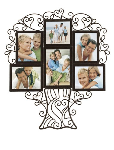 Malden 5260-60 Ironworks Family Tree collage Frame, 6 Opening