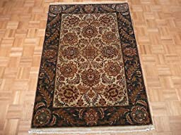 4 x 6 HAND KNOTTED SAGE GREEN AGRA ORIENTAL RUG VEGETABLE DYES G518