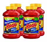Ragu Pasta Sauce, Old World Style, Traditional, 45 Ounce Bottles (Pack of 4)