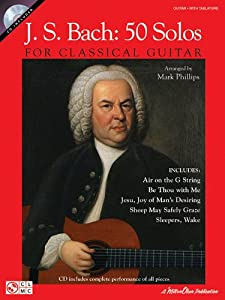 Js Bach 50 Solos For Classical Guitar With Cd from Cherry Lane Music Company