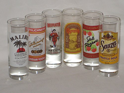 set-of-6-malibu-caribbean-rum-stolichnaya-russian-vodka-raspberry-vodka-beefeater-gin-sauza-tequila-