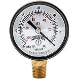 """Winters PEM Series Steel Dual Scale Economy Pressure Gauge, 30""""Hg Vacuum/kpa, 2"""" Dial Display, +/-3-2-3% Accuracy, 1/4"""" NPT Bottom Mount"""
