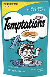 TEMPTATIONS Classic Treats for Cats Tempting Tuna Flavor 3 Ounces (Pack of 12)