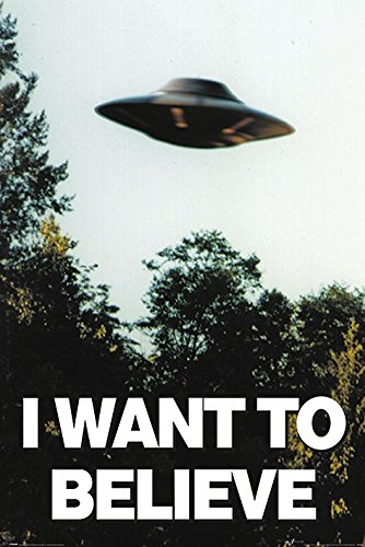 The X-Files I Want To Believe-Maxi Poster, in legno, colore: multicolore