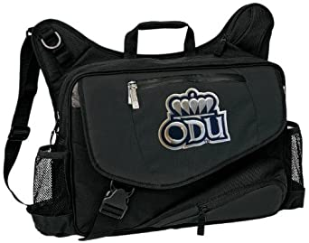 ODU Logo Laptop Computer Messenger Bag Old Dominion University Our Best NCAA Co by Broad Bay
