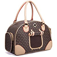 INewcow High Quality Fashional Soft Sided Teddy Dog Cat Pet Carrier Bags Travel Mesh Tote Hand Bag 38*23*17CM...